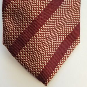 Vaneli Burgundy Striped Tie